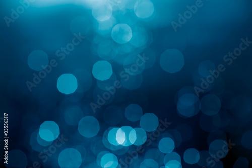 Fotomural Blue bokeh abstract light background