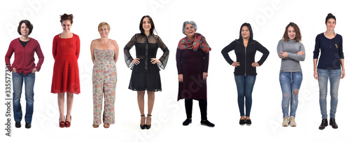Papel de parede group of woman on white