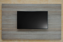 LCD TV Mounted On The Wall. Co...