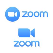 Blue Camera Icon - Zoom App Lo...