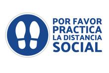 Social Distancing Sign. COVID-...