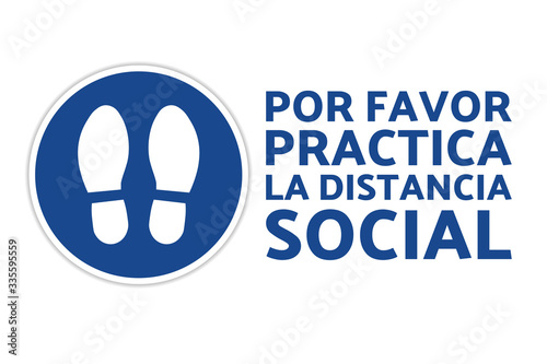 Photo Social distancing sign