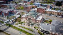Downtown Tacoma Washington Aerial Drone Photos
