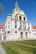 München, Deutschland: Eingang des Bayerischen Nationalmuseums mit europäischer Kunst und Sammlungen Schätzen der Wittelsbacher