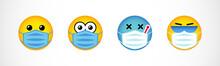 Set Of Emoji Faces In Medical ...