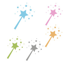 Fairy Magic Wand With Star Iso...