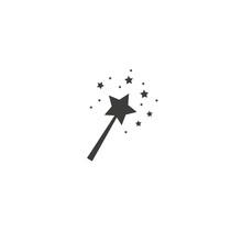 Fairy Magic Wand With Star Iso...