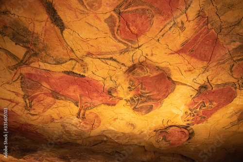 The Altamira Caves. Spanish rock art. It is the highest representation of cave painting in Spain