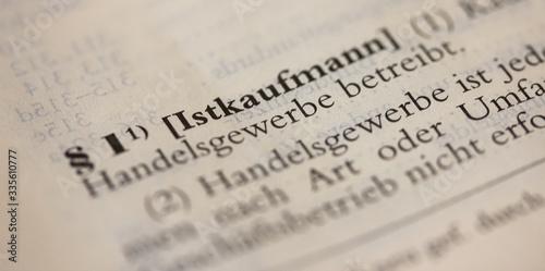 Fotografía Definition Kaufmann in § 1 HGB