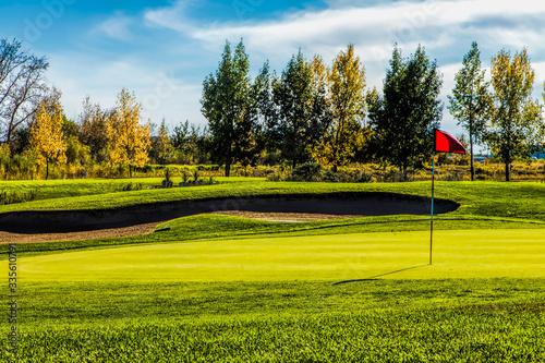 Golf Course in Autumn Canvas Print