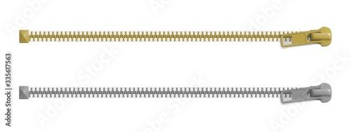 Obraz Set of closed zipper locks - fototapety do salonu