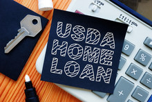 Business Photo Shows Hand Written Text Usda Home Loan