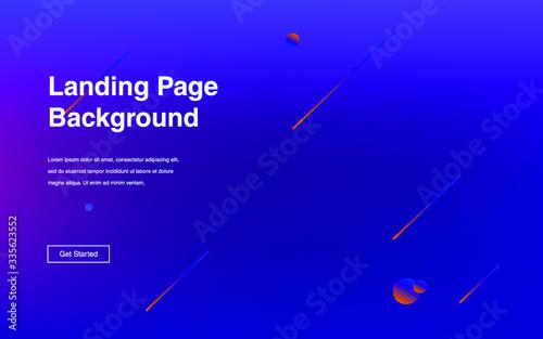 Fototapeta Fluid gradient shapes composition Futuristic design posters for landing page obraz na płótnie