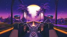 80s Retro Futuristic Sci-fi Ba...