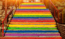 Steps Painted In Different Rai...