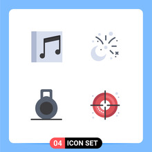 4 Flat Icon Concept For Websit...