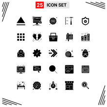 25 User Interface Solid Glyph ...