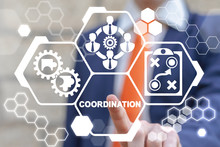 Coordination Group Team Work Together Business Communication Partnership Concept.