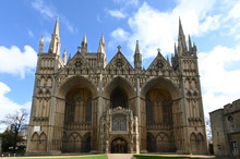 Gothic Peterborough Cathedral Cambridgeshire England UK