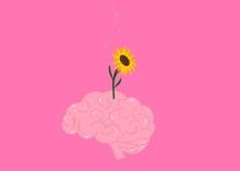 Sunflower In Brain Illustratio...
