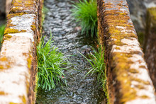 Closeup Of Small Stone Canal M...