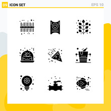 Stock Vector Icon Pack Of 9 Li...