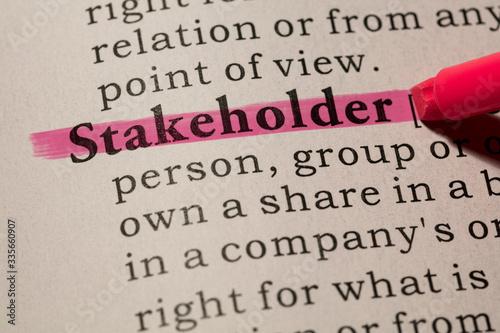 Fotomural definition of word stakeholder