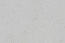 Falling Confetti Background. Sparkles On Pastel Grey Trendy Background. Festive Backdrop For Your Projects.