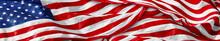 Panoramic US American Flag. Na...