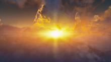 Cumulus Arial SunBurst Backgro...