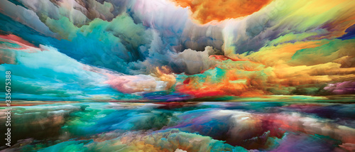 Valokuva Conceptual Land and Sky