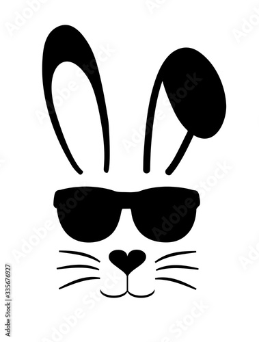 Easter bunny with sunglasses Fototapeta