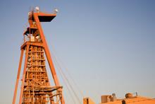 A Mine Shaft Tower In Kalgoorlie Western Australia