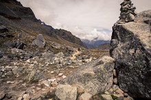 Rocky Terrain In The Andes Mountains