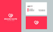 letter DW logo elegant corporate identity template with Creative Modern Trendy