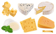 Cheese 3d Realistic Vector Obj...