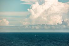 Solitary Boat At Sea
