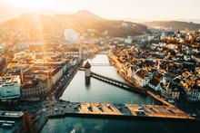 Lucerne, Switzerland Sunset An...