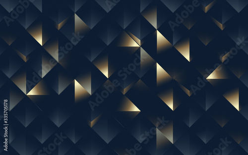 Foto Abstract geometric pattern luxury dark and gold background