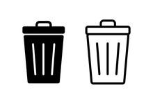 Trash Icons Set. Trash Can Ico...