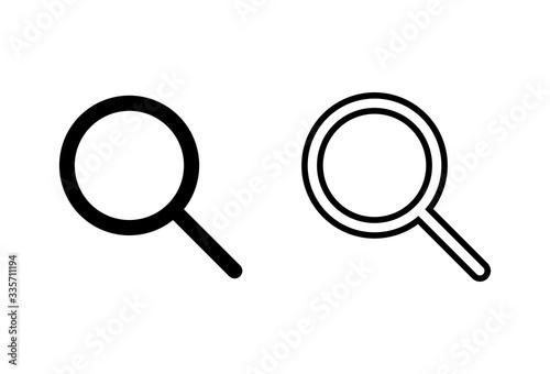 Search icons set Canvas Print
