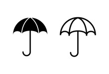 Umbrella Icons Set. Umbrella V...