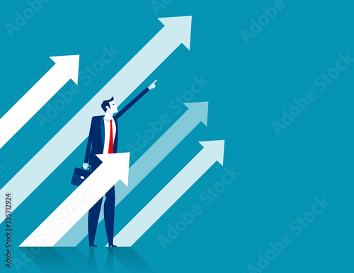 Fototapeta Business investment direction. Strategy and Planning concept obraz