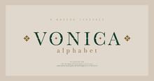 Elegant Alphabet Letters Serif...