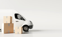 Delivery Vans With Paper Boxes...