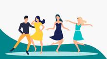 Salsa Dancers Performance. Lei...