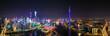 Aerial photo of night view of CBD skyline in Guangzhou, China