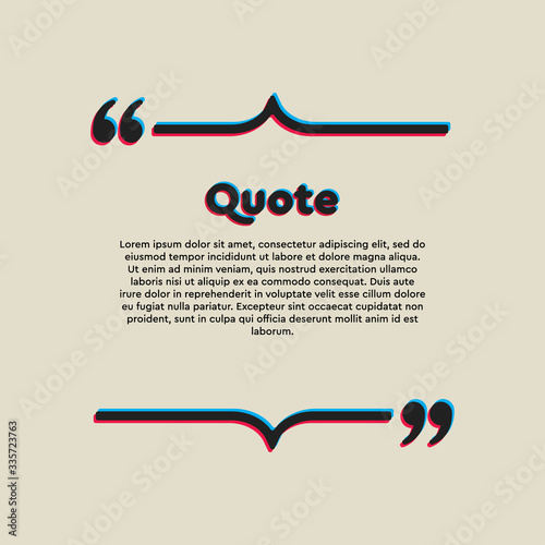 Vector template a creative quote bracket lines Canvas Print