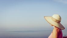 Woman Enjoy Coast View In Spain