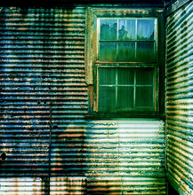 Exterior View Of An Abandoned ...